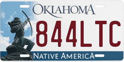 OK license plate 844LTC