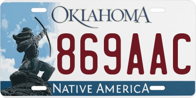 OK license plate 869AAC