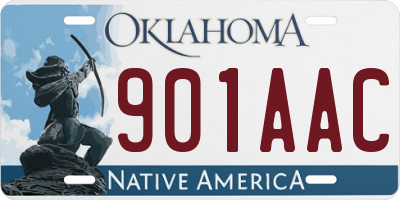 OK license plate 901AAC