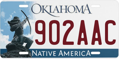 OK license plate 902AAC