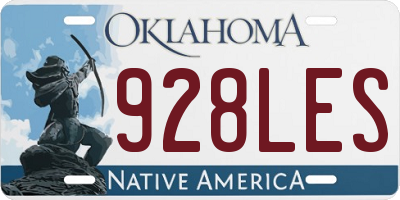 OK license plate 928LES
