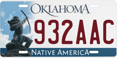 OK license plate 932AAC