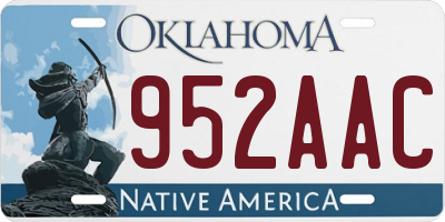 OK license plate 952AAC