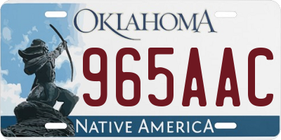 OK license plate 965AAC