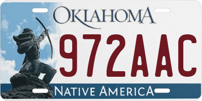 OK license plate 972AAC