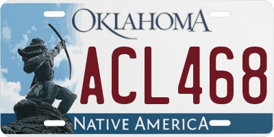 OK license plate ACL468