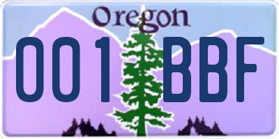 OR license plate 001BBF
