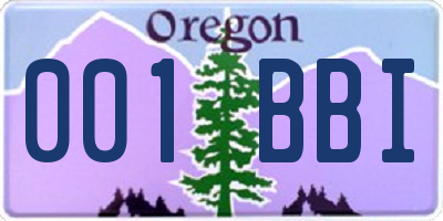 OR license plate 001BBI