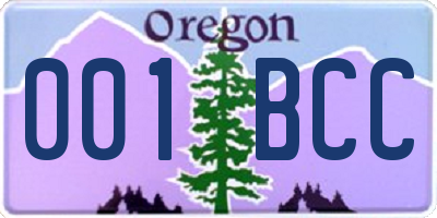 OR license plate 001BCC