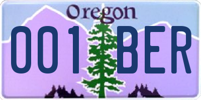 OR license plate 001BER