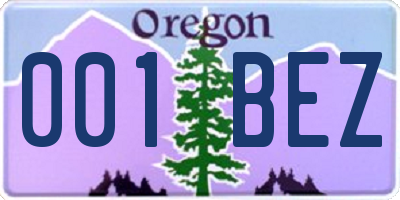 OR license plate 001BEZ
