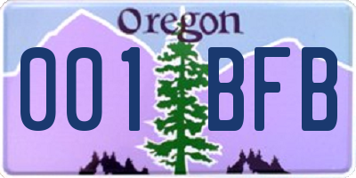 OR license plate 001BFB