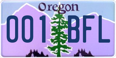 OR license plate 001BFL