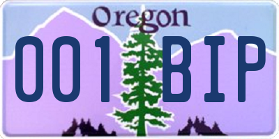 OR license plate 001BIP