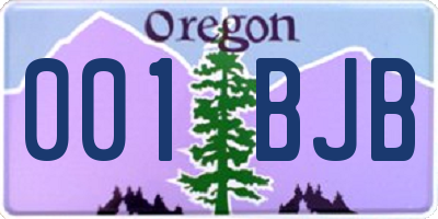 OR license plate 001BJB