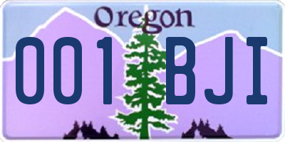 OR license plate 001BJI