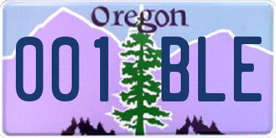 OR license plate 001BLE