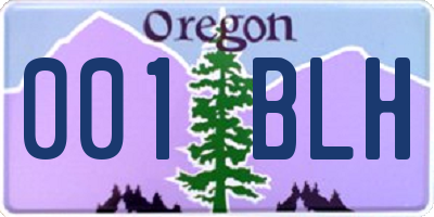 OR license plate 001BLH