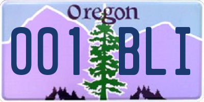 OR license plate 001BLI