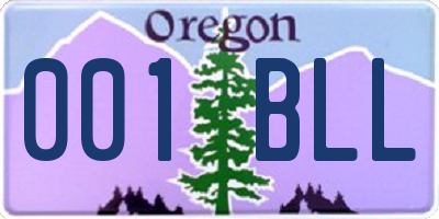 OR license plate 001BLL