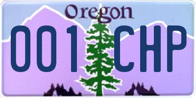 OR license plate 001CHP