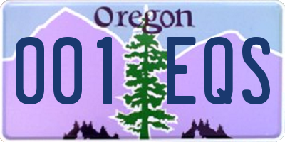 OR license plate 001EQS