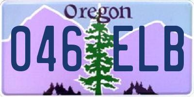 OR license plate 046ELB