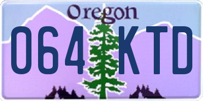 OR license plate 064KTD