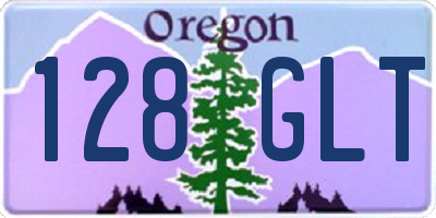 OR license plate 128GLT