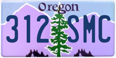 OR license plate 312SMC
