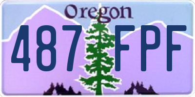 OR license plate 487FPF