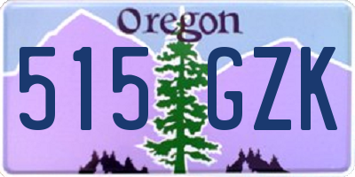 OR license plate 515GZK