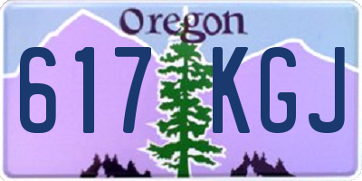 OR license plate 617KGJ