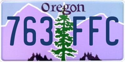 OR license plate 763FFC