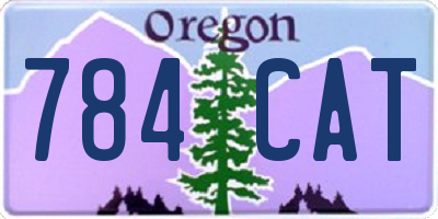 OR license plate 784CAT