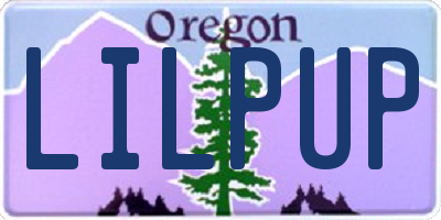 OR license plate LILPUP