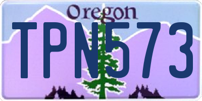 OR license plate TPN573