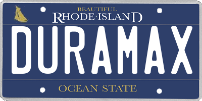 RI license plate DURAMAX