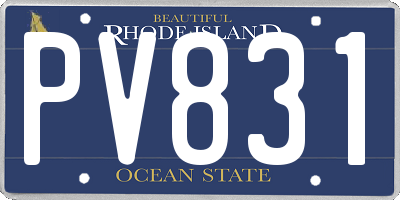 RI license plate PV831
