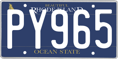 RI license plate PY965
