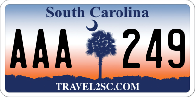 SC license plate AAA249