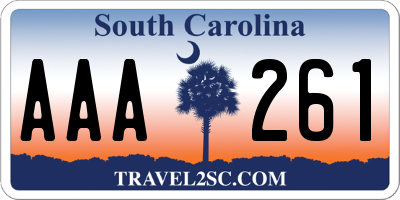 SC license plate AAA261