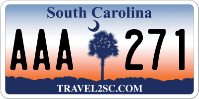 SC license plate AAA271