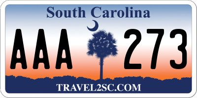 SC license plate AAA273