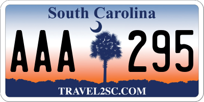 SC license plate AAA295