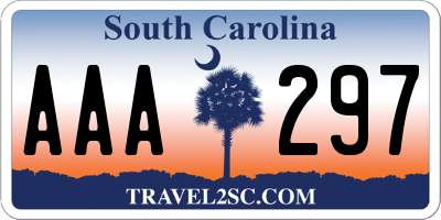 SC license plate AAA297