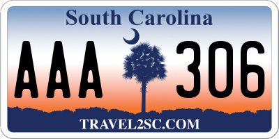 SC license plate AAA306