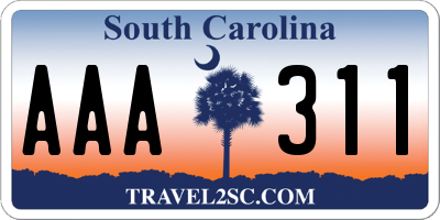 SC license plate AAA311