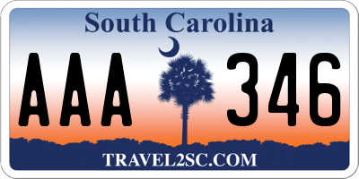 SC license plate AAA346