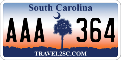SC license plate AAA364
